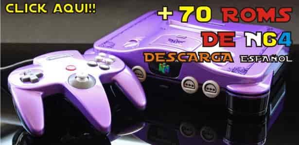 Descarga aqui Mas de 70 Roms de Nintendo 64 en Español clic aqui
