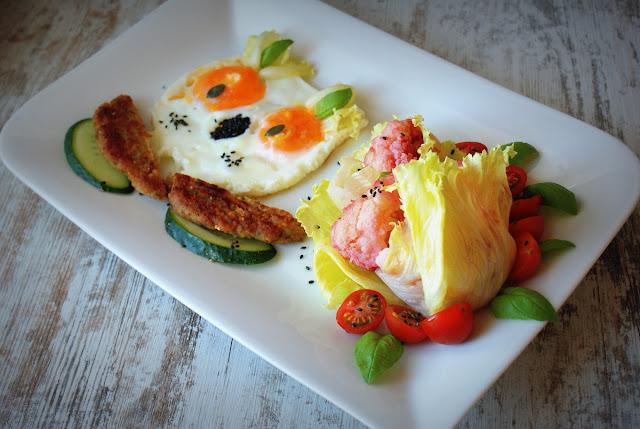 Proeco,sowa,kalafior,obiad dla dzieci,jaja sadzone,