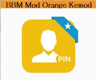 BBM Mod Orange Kemod V2.13.0.26 apk