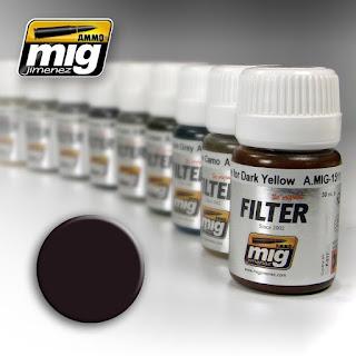 AMMO of Mig Jimenez Filter - Brown for Dark Green (Enamel Based, 30ml)