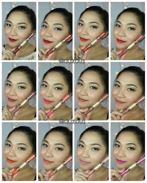 sariayu duo lip color swatch