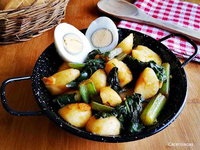 Acelgas rehogadas con patatas
