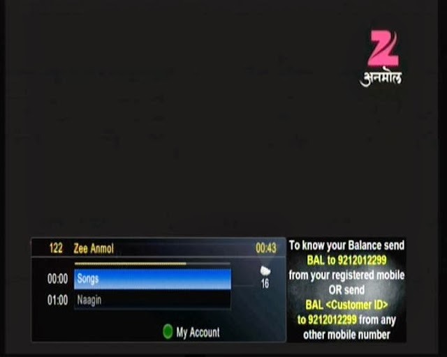 Zee Anmol Hindi Entertainment Channel Added on Channel No.122