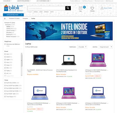 Memilih Laptop Dengan Harga Murah di Toko Online