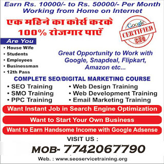 SEO TRAINING INSTITUTE IN BHILWARA