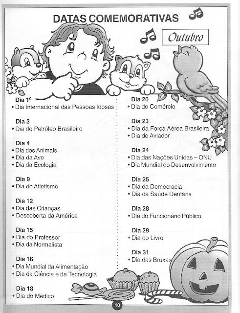 Resultado de imagem para datas comemorativas outubro 2017
