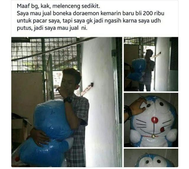 Kisah Ngenes Remaja Jual Boneka Gara-gara Putus Dari Pacarnya, Sering Terjadi!