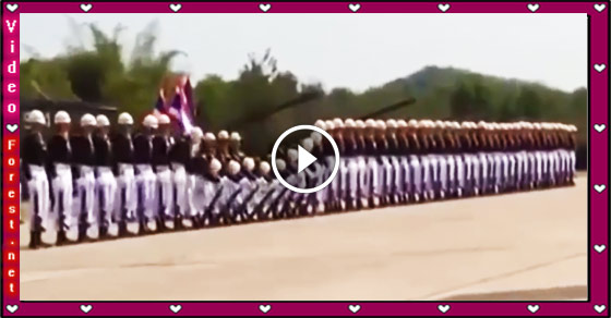 Impressive Royal Thai Navy Parade With Domino Style