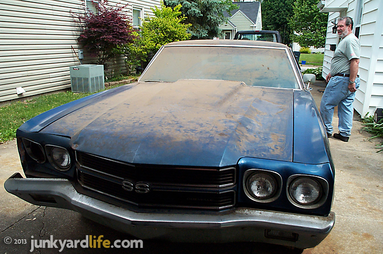 barn find 1970 chevelle ss