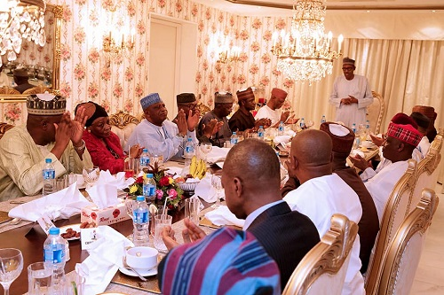 As Buhari Hosts APC Party Chieftains To Dinner in Aso Rock