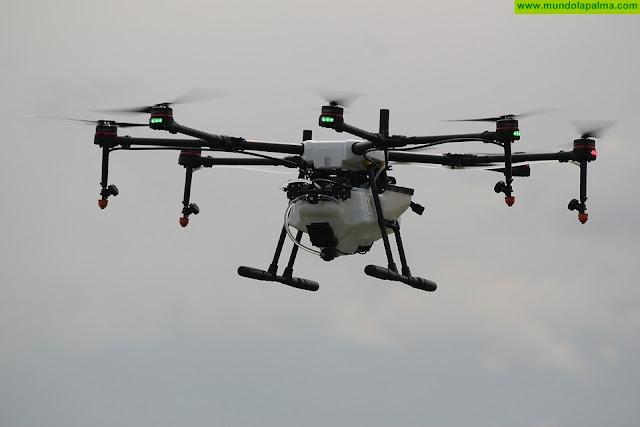 Política Territorial mejora la seguridad en La Caldera con el uso de drones