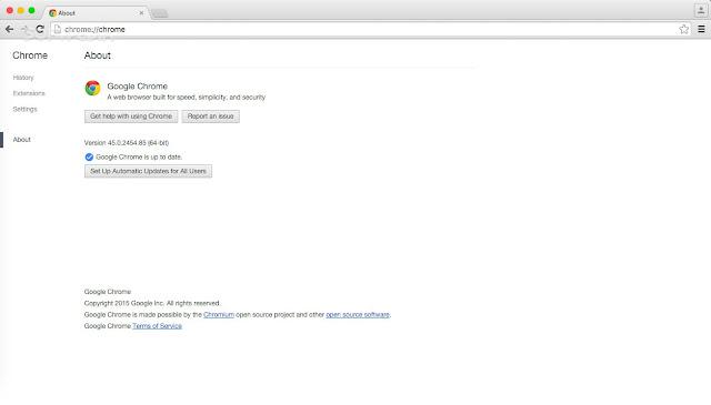 متصفح جوجل كروم اخر اصدار 45