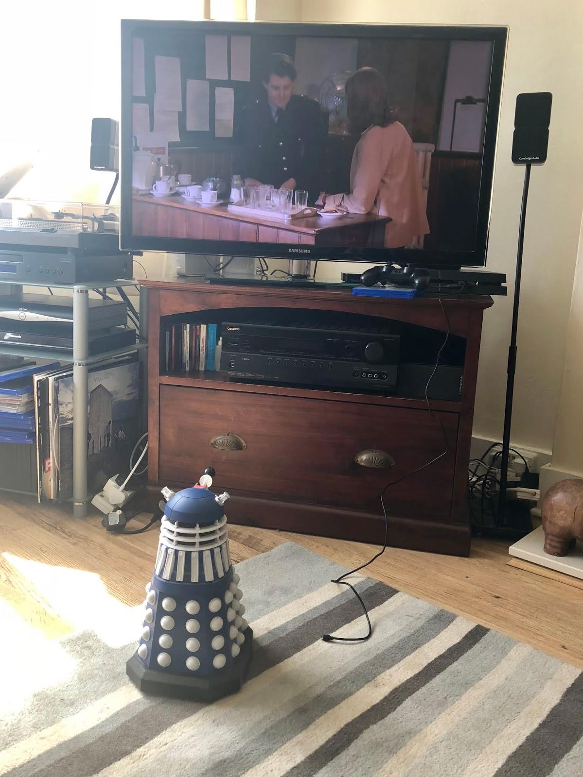 Derek watching TV