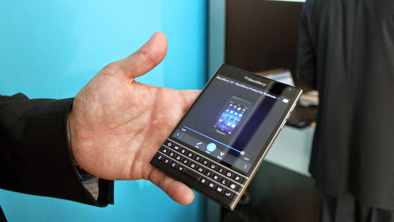 BlackBerry Passport goes through extreme drop testing