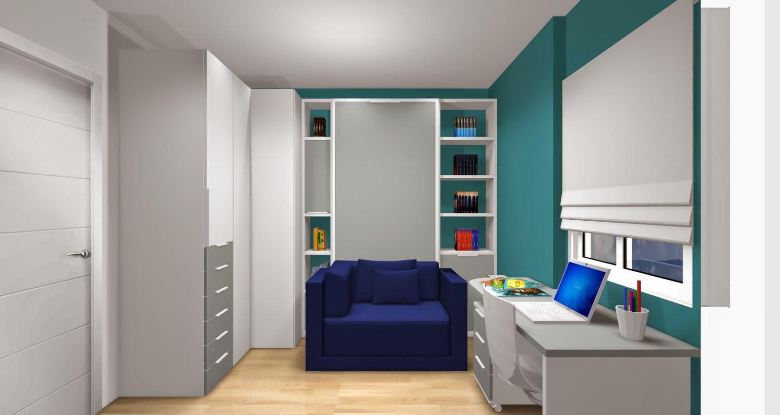 Dise o de cuartos o dormitorios juveniles for Habitaciones juveniles 3 camas