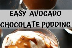 EASY  AVOCADO CHOCOLATE PUDDING