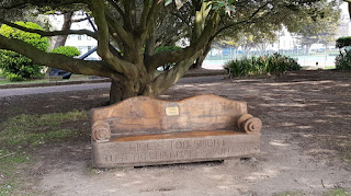 Bench at Norfolk Gardnes in Littlehampton