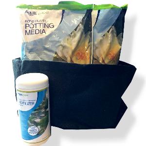 water lily potting kit