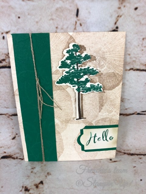 Card, Rooted In Nature, Nature's Roots Framelits, Woodland Embossing Folder