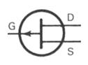 Transistor Symbol - JFET P Channel