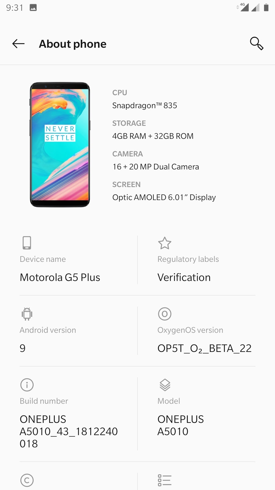 OxygenOS Pie is now available for Moto G5 Plus - TheSpAndroid
