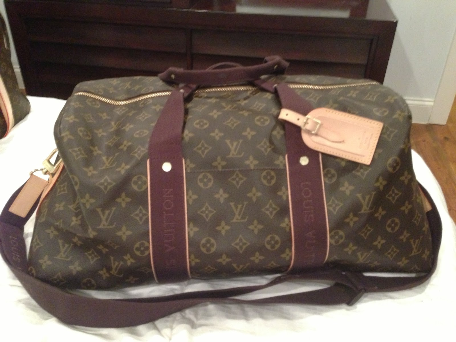 purse princess replica louis vuitton monogram weekender by kate. Black Bedroom Furniture Sets. Home Design Ideas