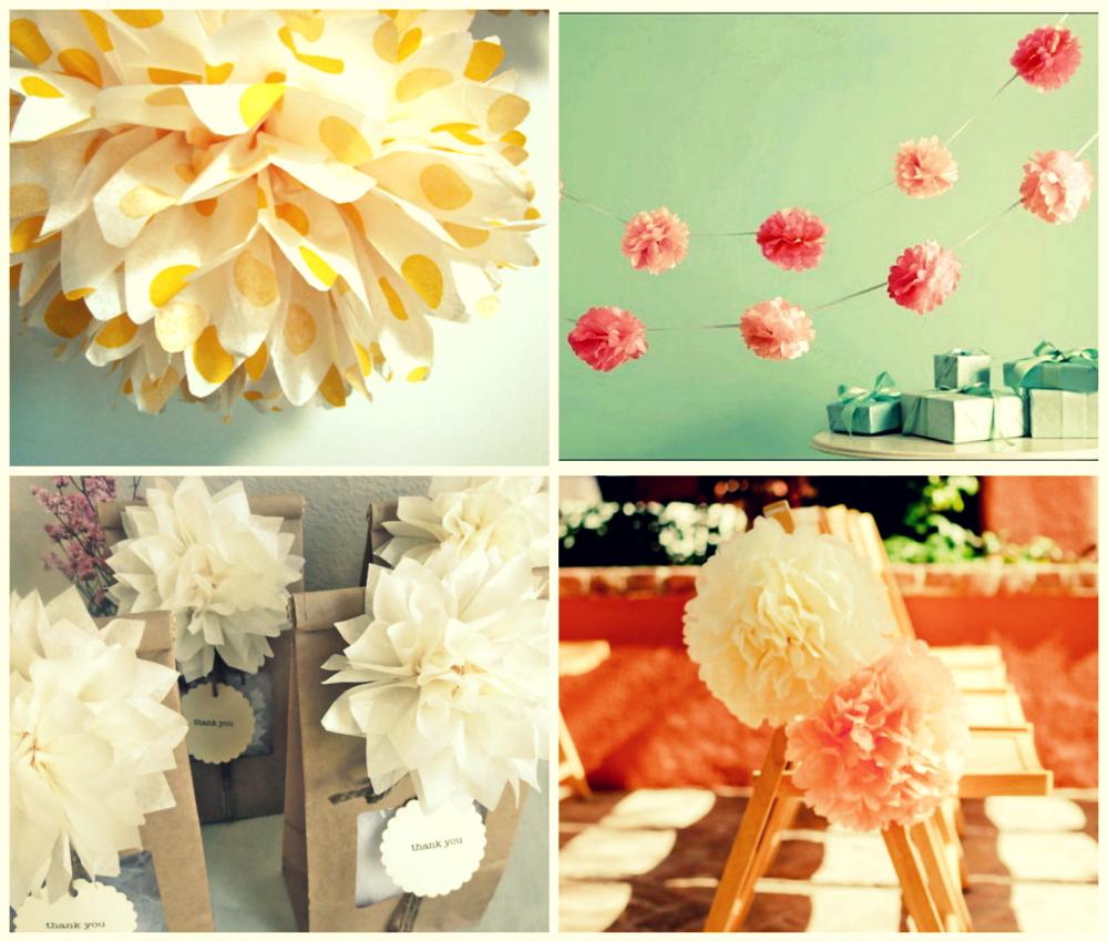 weddings the joys and jitters wonderful wedding decor inspiration pompoms. Black Bedroom Furniture Sets. Home Design Ideas