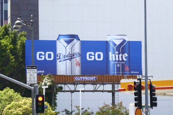 Go Dodgers Hite beer billboard
