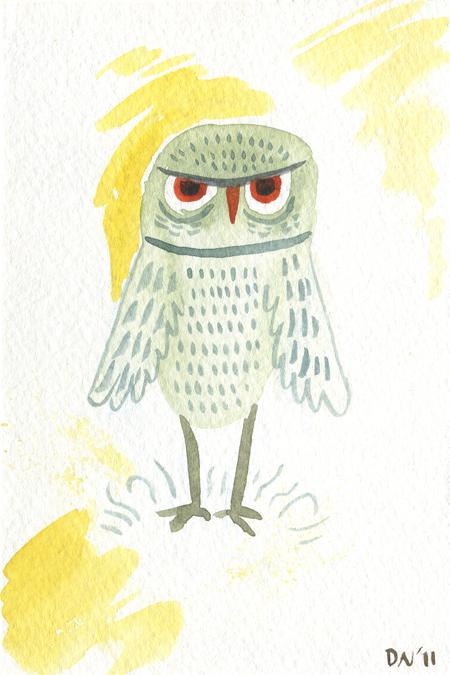 Daron's Art Blog: Owls!