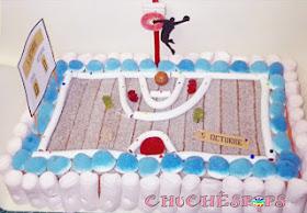 tarta chuches cancha de baloncesto