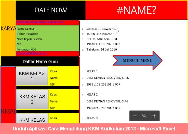 Unduh Aplikasi Cara Menghitung KKM Kurikulum 2013