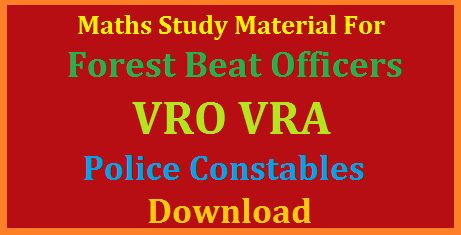 Mathematics Study Material for TSPSC Forest Beat Officers Constables VRO VRA Download Free PDF Algebra Arithematics Trignometry Mensuration Geometry Basic Concepts for all TSPSC APPSC Recruitment Notifications in Telangana and Andhra Pradesh. As per the syllabus of Rceruitment Notification issued by Telangana State Public Service Commission for Forest Beat Officers 1857 Posts given in Notification Number 482017 Current affairs General knowledge General Mathematics. Aspirants in Telangana for the Forest Beat Officers and Constables search for this material mathematics-study-material-for-tspsc-forest-beat-officers-constables-vro-vra-free-pdf-download