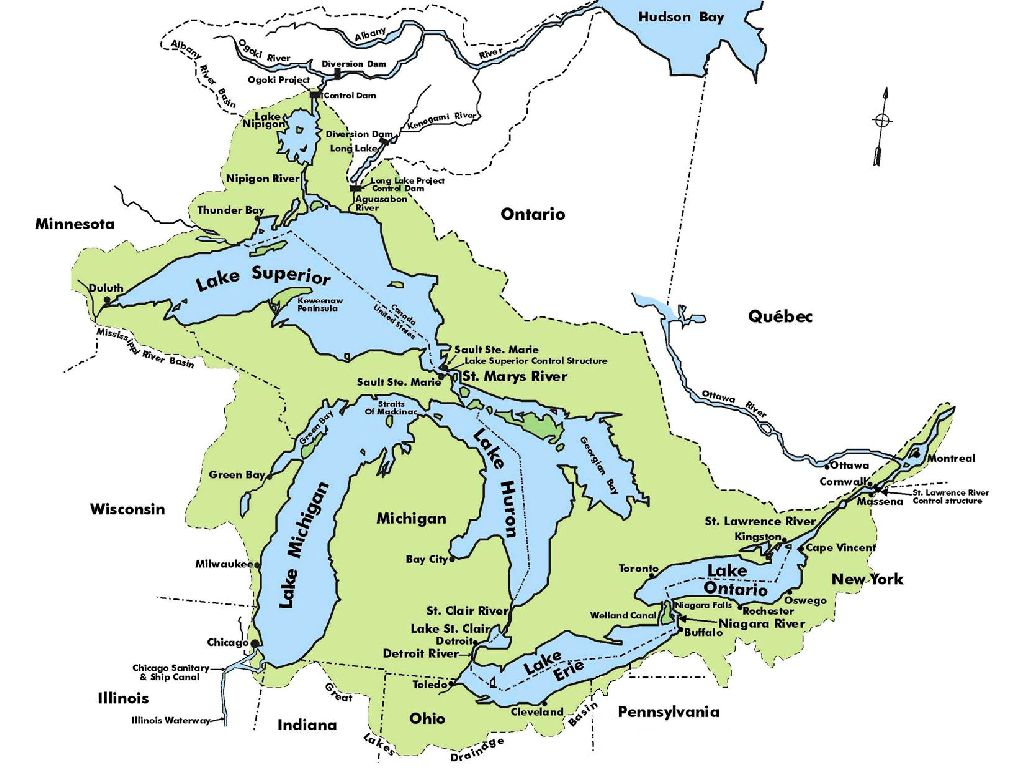 map of united states rivers and lakes