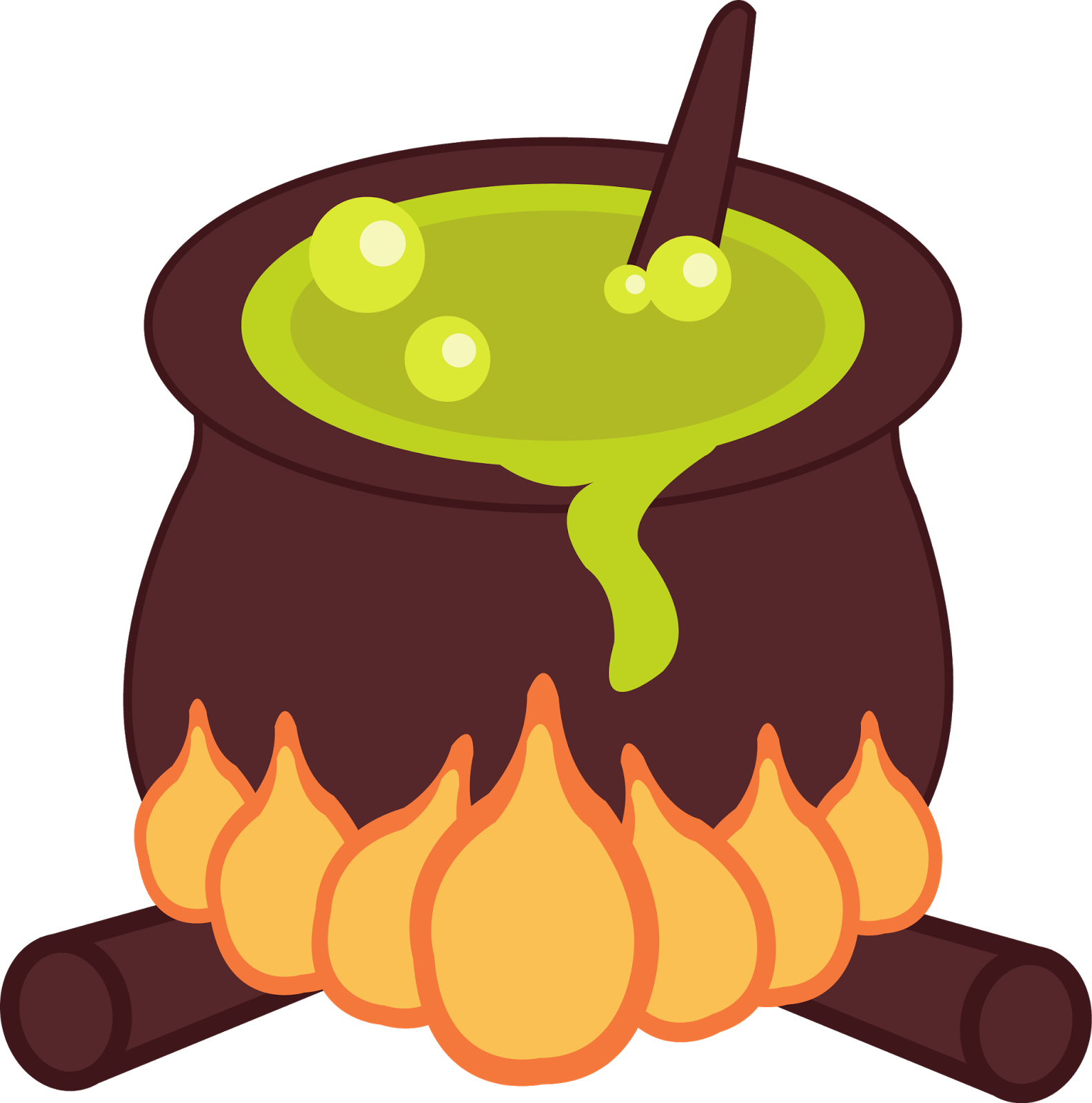 Halloween Cauldrons Clipart. | Oh My Fiesta! in english