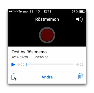 röstmemo iphone 7