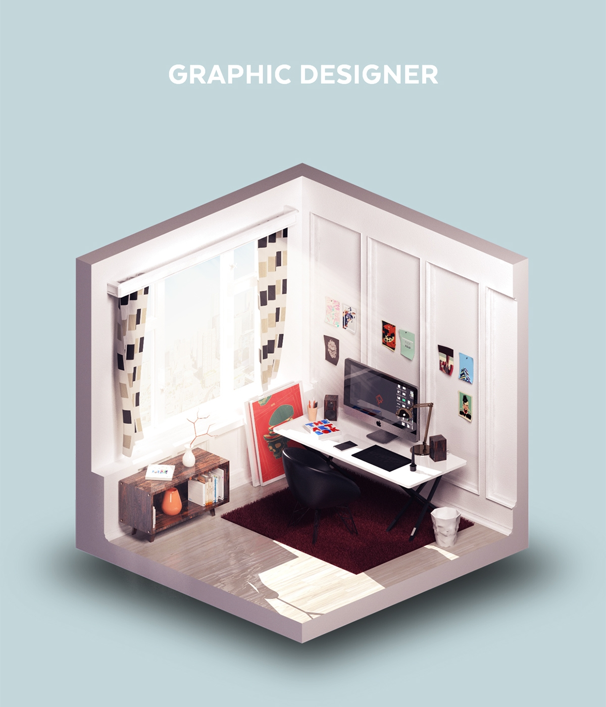 02-Room-of-a-Graphic-Designer-Petr-Kollarcik-Digital-Interiors-Design-and-Modern-Nomads-illustrations-www-designstack-co