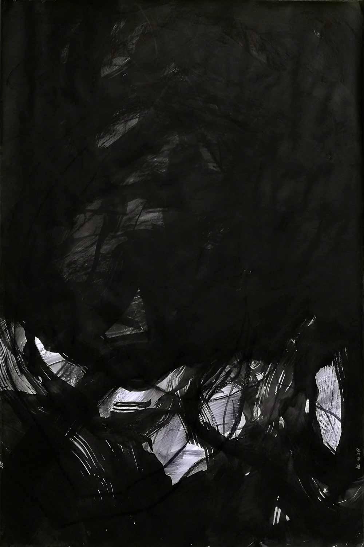Graphite et fusain sur papier, 80 x 120 cm, 5 avr. 18 - © Annik Reymond