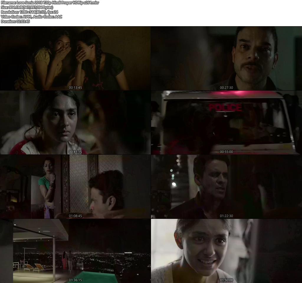Love Sonia 2018 720p Hindi Proper HDRip x264 | 480p 300MB | 100MB HEVC Screenshot