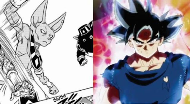 Beerus Using the Ultra Instinct Technique in Dragon Ball  Super Manga