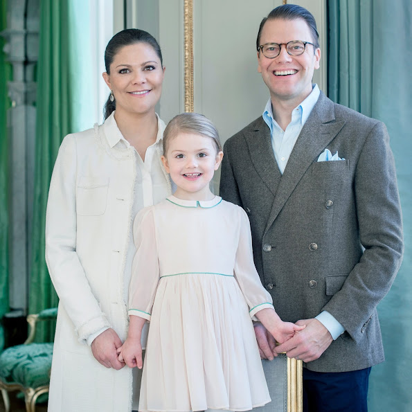 Crown Princess Victoria and Prince Daniel, Princess Estelle of Sweden celebrates her 4th birthday. Royal House of Sweden published Crown Princess Family's new official photos