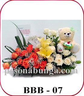 karangan bunga untuk menyambut kelahiran bayi