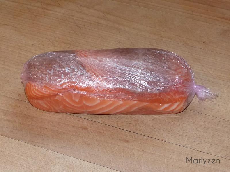 Confectionnez un rôti de saumon.