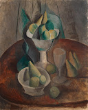 Fruit in a Vase by Pablo Picasso - Fruits Paintings from Hermitage Museum