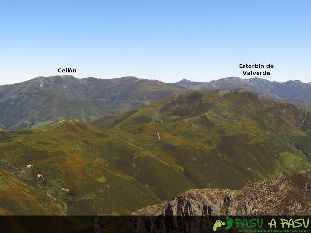 Vista del Cellón y Estorbín de Valverde desde el Palero