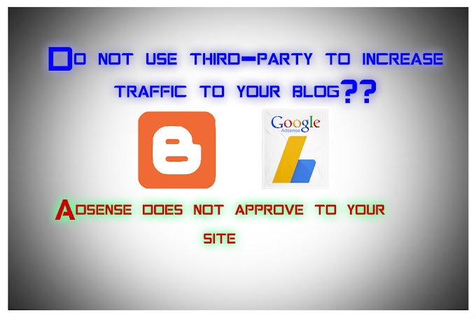 Do not use third-party to increase traffic to your blog ?