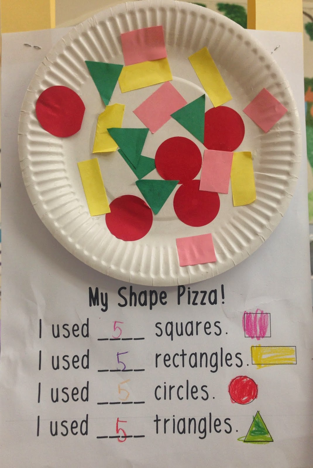 Normally you would paint the paper plate pizza dough coloured before you complete this craft... but I must have been pushed for time the year I took this ... & Love Laughter and Learning in Prep!: Hands-On Ideas for Teaching 2D ...