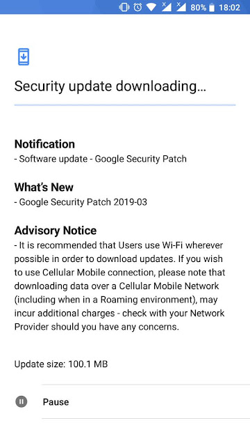 Nokia 3 receiving March 2019 Android Security update