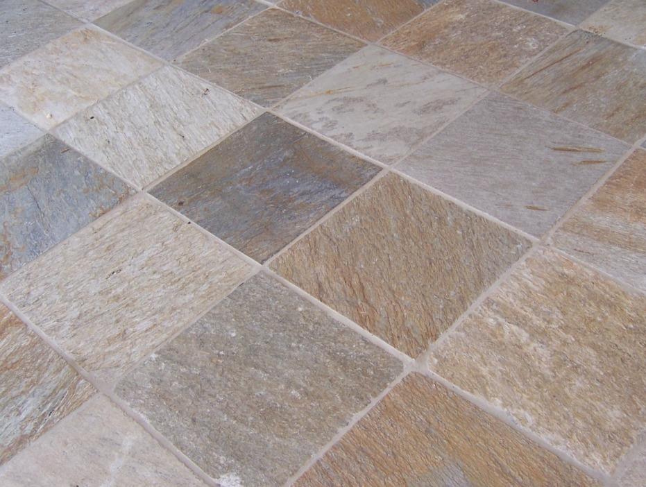 Interlocking Slate Tiles Floor