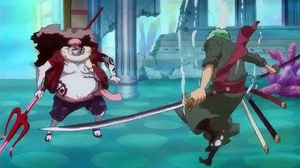 zoro sử dụng haki quan sát đánh bại hody