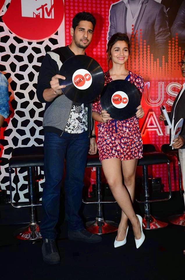 Sidharth Malhotra & Alia Bhatt at MTV Coke Studio Press Meet